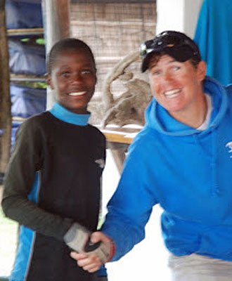 Kesho Boy competes in Optimist Dinghy Sailing Kenya Nationals